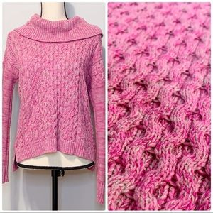 American Eagle | Sweater Cowl Neck Cable Knit EUC